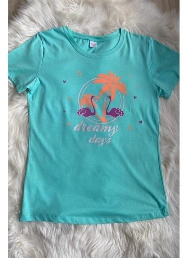 Elif İç Giyim Kadın Mavi Flamingo Desenli Pijama Takımı Mavi